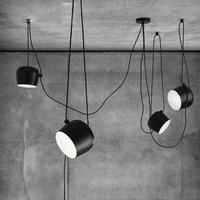 Original Hang Drum Black/White iron shade droplight luminaire with cover Bongos chandelier modern showcase lighting AC100 240V