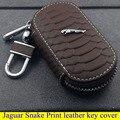 Jaguar частей высокое качество крышка ключ кожа для LJaguar XE XF XJ Jaguar S-TYPE Змея Печати стиль брелок автомобиля укладки