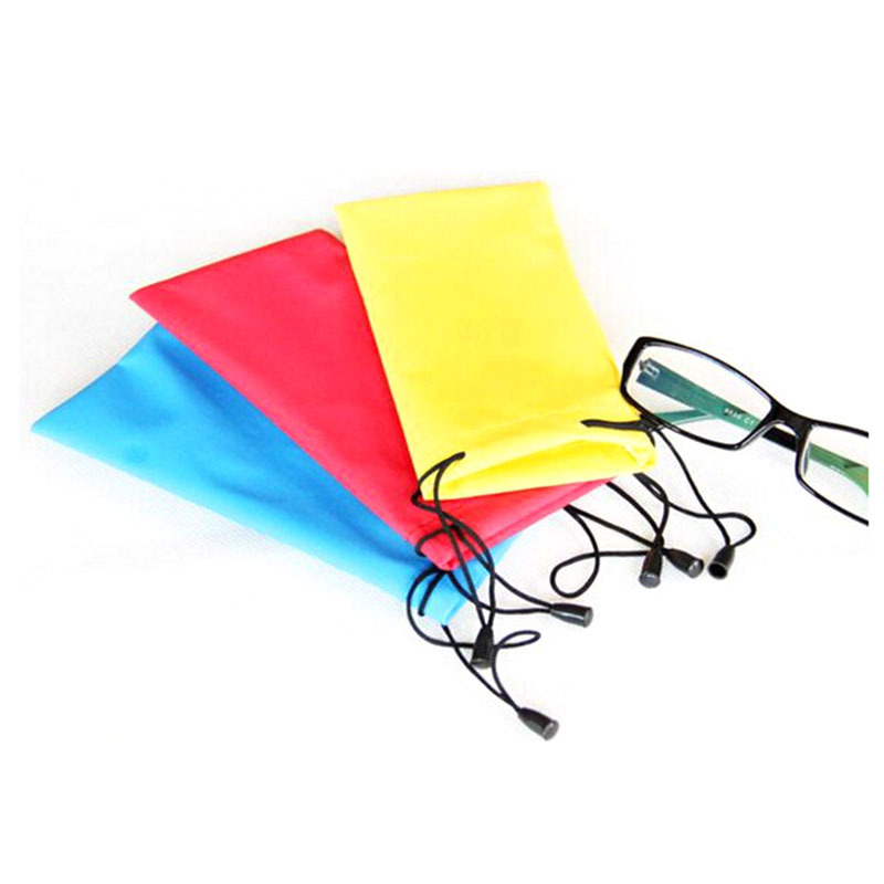 5pcs/lot Colorful Glasses Pouch Cloth Bags Waterproof Sunglasses Case Box