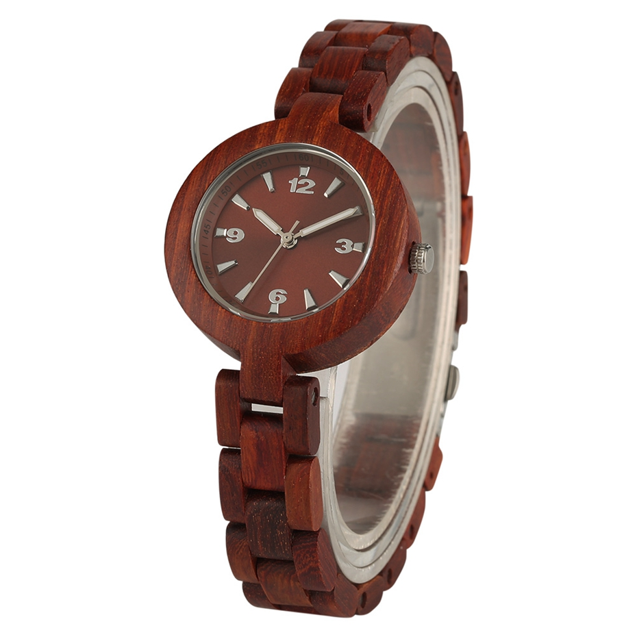 Women's Wood Watches Top Brand Unique Little Cute Dial Quartz Clock Ladies Dress Wooden Bangle Watch Environmentally reloj mujer 2018 2020 2019 (2)