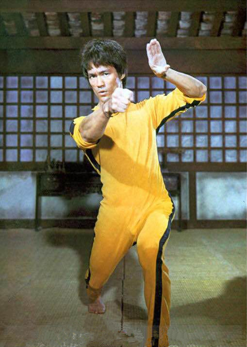 Game of  Death Costume Jumpsuit  Bruce Lee Classic Yellow Kung Fu Uniforms Cosplay Costume