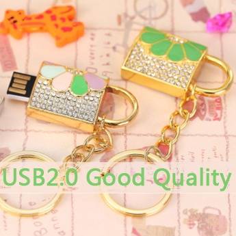 Fashion Pendrive 2TB 1TB Jewelry Lock USB Flash Drive 128GB 16GB 32GB 64GB USB 2.0 Flash Memory Stick Drive Car/Pen/Thumb/Key