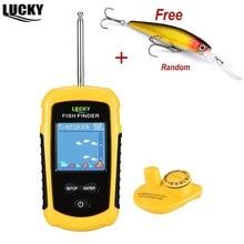 Lucky FFCW1108-1 беспроводной Fishfinder 120 м глубже питьевой sonar сенсор глубже рыболокаторы цвет ЖК дисплей для рыбалка