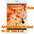 "3pcs/lot Screen Guard For 7.85"" ZTE e-Learning PAD E8Q Tablet Original Clear Full Screen Protector Film Free Ship"