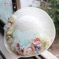 Nueva Novia Sombreros fascinator flor de Las Mujeres Atractivas de seda hecho a mano adornos Para El Cabello pinzas para el cabello Accesorios de Fotografía de La Boda de Regalo