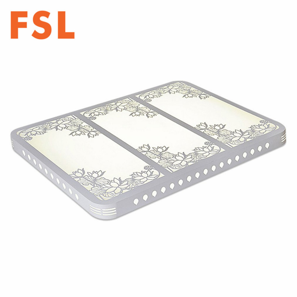 FSL LED Hollowed Out Carving Flower Ceiling Lamp Electrodeless Dimming Light for Living Room Bedroom Dining hall Luxury Decor
