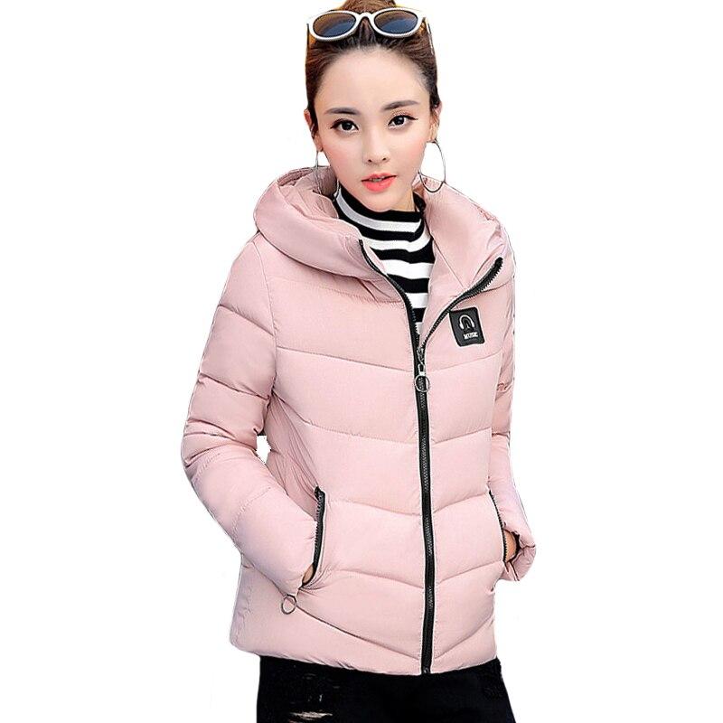 New Fashion 2019 Winter Jacket Women Slim Solid Outwear Womens Winter Jackets Short Hooded Coat   Parka   Casaco Feminino Inverno