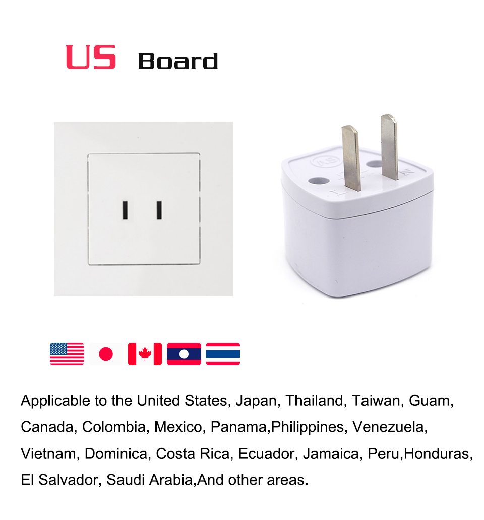 1PC New Arrivals EU UK AU to US Plugs adapter Power Converter Plugs 2 Pin Socket EU to America Travel Charger Adapter Converter (4)