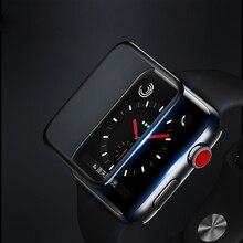 4D Cobertura Completa Borda Suave Gel Completo do Filme de Vidro para I Série Relógio Relógio 4 Filme Protetor de Tela para Apple 3 2 1 38 42mm