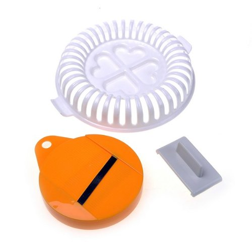 SZS Hot Plastic DIY Potato Chip Vegtable Slicer and Plate For Microwave Baked