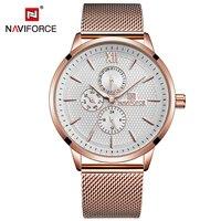 Luxury Brand NAVIFORCE Casual Men Watches Man Quartz Watch Waterproof Stainless Steel 24 Hour Sport Wristwatch Relogio Masculino