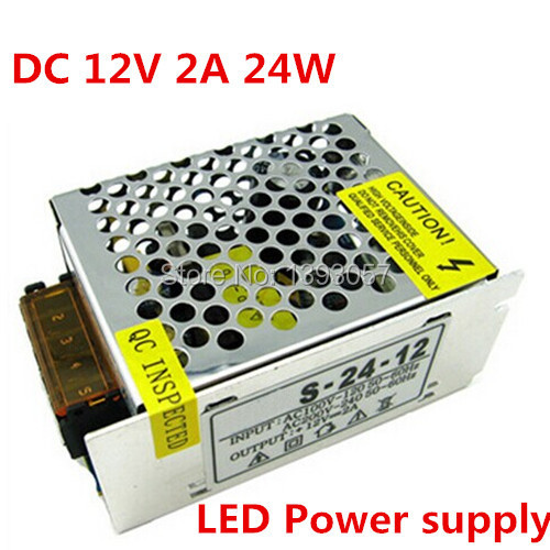 2pc 12V 2A 24W Switching led Power Supply non-waterproof led driver for indoor for 3528/5050 LED strips