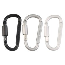 Aluminum Alloy Carabiner Hiking D-Ring Keychain Clip Hook Buckle for Camping Clmbing Hot Sale Dropshipping