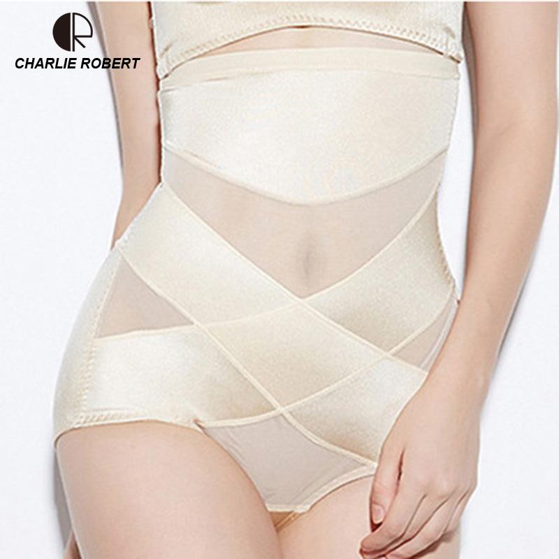Women High Waist Body Shaper Panties Seamless Tummy Belly Control Waist Slimming Pants Shapewear Girdle Underwear Waist Trainer