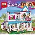 Lepin 01014 622Pcs Genuine Good Friend Girls Series The Stephanie\'s House Set Building Blocks Bricks with Legoe Friends 41314