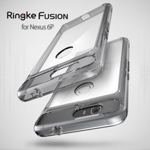 Original Ringke Fusion for Google Nexus 6P Case Ultra-thin Military Drop Protection Clear Slim Cover Cases for Huawei Nexus 6P