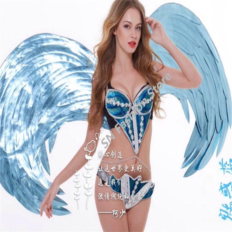 ES004 Sexy cermin tari penyanyi gaun / kostum ballroom pakaian - Hari libur dan pesta - Foto 5