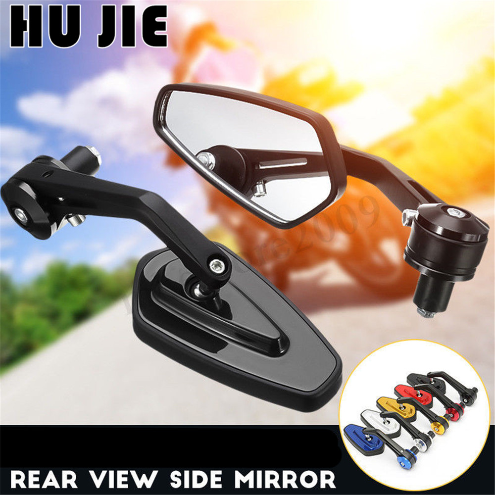 Universal Motorcycle 7//8/'/' 22mm Aluminum Rear View Side Mirror Handle Bar End