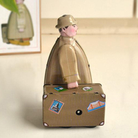 Classic Traveler Tinwork Toys Collection Handmade Wind Up Toys Walking Man Tin Toys Showcase Decoration