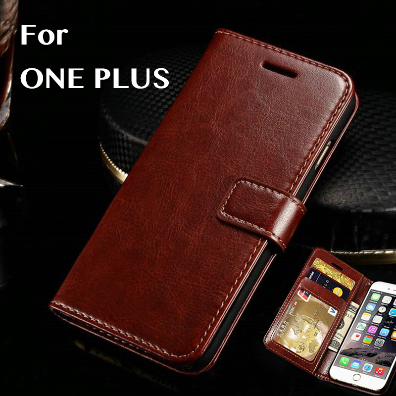 For Oneplus Flip Phone Case Vintage Crazy Horse Leather For Oneplus 1 Wallet Phone Case For 1+ Fitted Case Luxury Leather