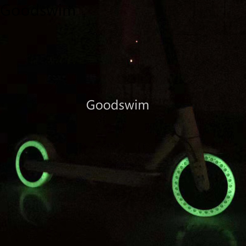 Luminous Shock Absorber Xiaomi Mijia M365 Scooter Skateboard Damping Rubber Tires Wheels Tyre Fluorescent Solid Hole Tires