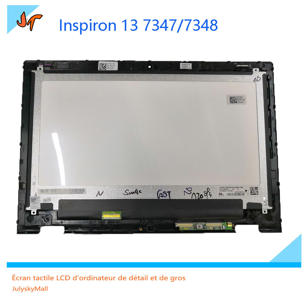For Dell Inspiron 13 7000 Series 7347 7348 7359 P57G 13.3 inches LCD Display Digitizer Touch Screen Assembly + Frame 15 6 n133hse ea1 1920 1080 30pins lcd display screen matrix replacement repair for dell inspiron 13 7000 series 7347 7348 p57g