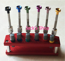 New 6pcs High Quality Metal Watch Screwdriver Set with Screwdriver Booster Comes in a Metal Stand