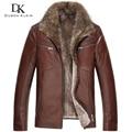 Brand Men's leather fur Jackets Wool Liner+Genuine sheepskin+Raccoon Fur Collar Luxury male Winter Coat 15N15931