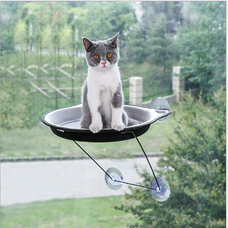 2019 hot sell Pet Product Cat Supplies Furniture & Scratchers Suction cup hanging four seasons universal hanging window sill