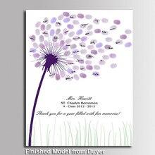 Креативное дерево любви отпечаток пальца DIY Signature дерево с отпечатками пальцев гость книга крещение день рождения Свадебные украшения Книга для гостей