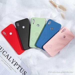 Image 5 - Keajor Soft Case For Xiaomi Redmi 7 6 6A Note 7 Pro Case Liquid Silicone Cover Luxury TPU Phone Case For Xiaomi Mi 9 SE Hoesje