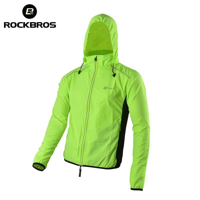 ROCKBROS Reflektierende Atmungsaktive Fahrrad-fahrrad-zyklus Langarm Wind Coat Windcoat Winddicht Quick Dry Jersey Jacke