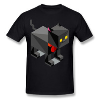 الرجال أزياء الرجال تي شيرت 3d t-shirt أنيمي الزى 3d القطة السوداء بكسل الرجال مضحك قمصان رجالي قمصان الملابس