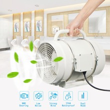8'' 220V Extractor Fan High Efficiency Ducted Ventilator Turbo Fan Ventilation System Exhaust Air Inline Duct Fan Household New