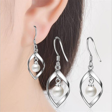 Everoyal Trendy Girls Pearl Hook Earrings Jewelry Fashion 925 Sterling Silver For Women Birthday Gift