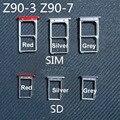 ВЫСОЧАЙШЕЕ Качество Micro Sim-карты Лоток или Лоток Для Карты SD для Lenovo Vibe Shot Z90 Z90-7 Z90-3 Мобильного Телефона Запасных части
