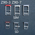 De Calidad SUPERIOR Tarjeta Micro SIM Bandeja o la Bandeja De Tarjeta SD para lenovo vibe shot z90 z90-7 z90-3 teléfono móvil de repuesto partes