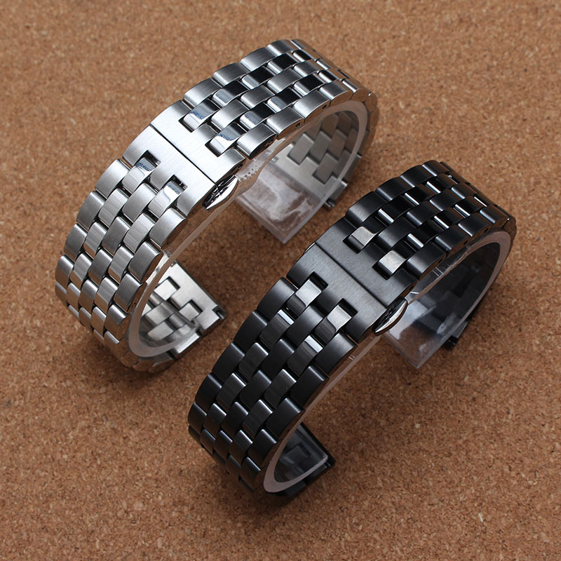 New Strap 22mm Stainless Steel Watch Band Metal Watchband for Moto 360 2 2nd Gen Man/Gear s3 Frontier Classic/ Pebble Time Steel 20mm watchband stainless steel smart watch band strap bracelet for motorola moto 360 2 2nd gen 2015 42mm smartwatch black silver