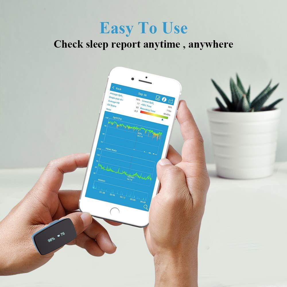 Image 5 - Sleep Oxygen Monitor Alarm for Sleep Apnea   Replace Fingertip Pulse Oximeter for CPAP Machine  App Report-in Sleep & Snoring from Beauty & Health