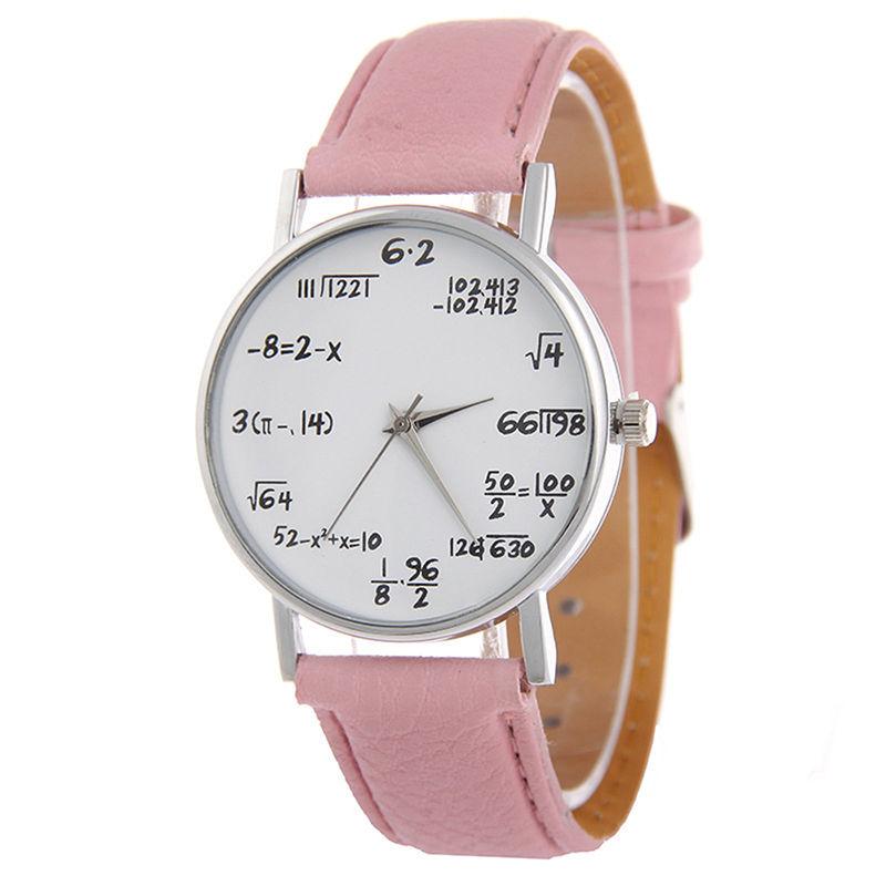 d6878896ad8 Aliexpress.com  Compre Símbolos Matemáticos Vansvar Moda Casual Relógio de  Quartzo de Couro Das Senhoras Mulheres Relógios De Pulso Relogio feminino  ...