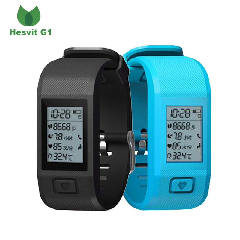 2017 newest bracelets watch Hesvit G1 wristband Support heart rate pessometer sleep monitor call reminder for