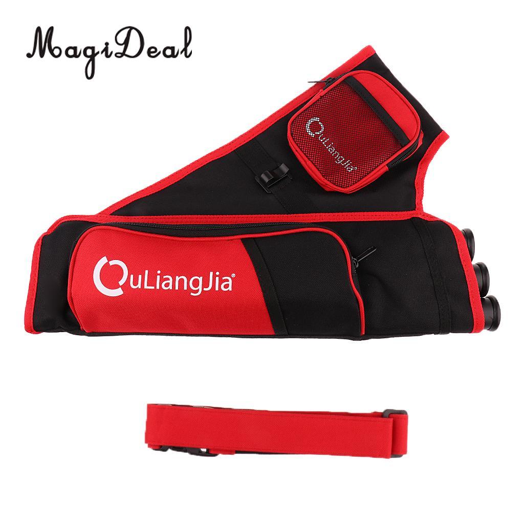 MagiDeal Three-Tubes Adjustable Archery Arrow Hip Belt Quiver Holder Bag Pouch 2 Colors