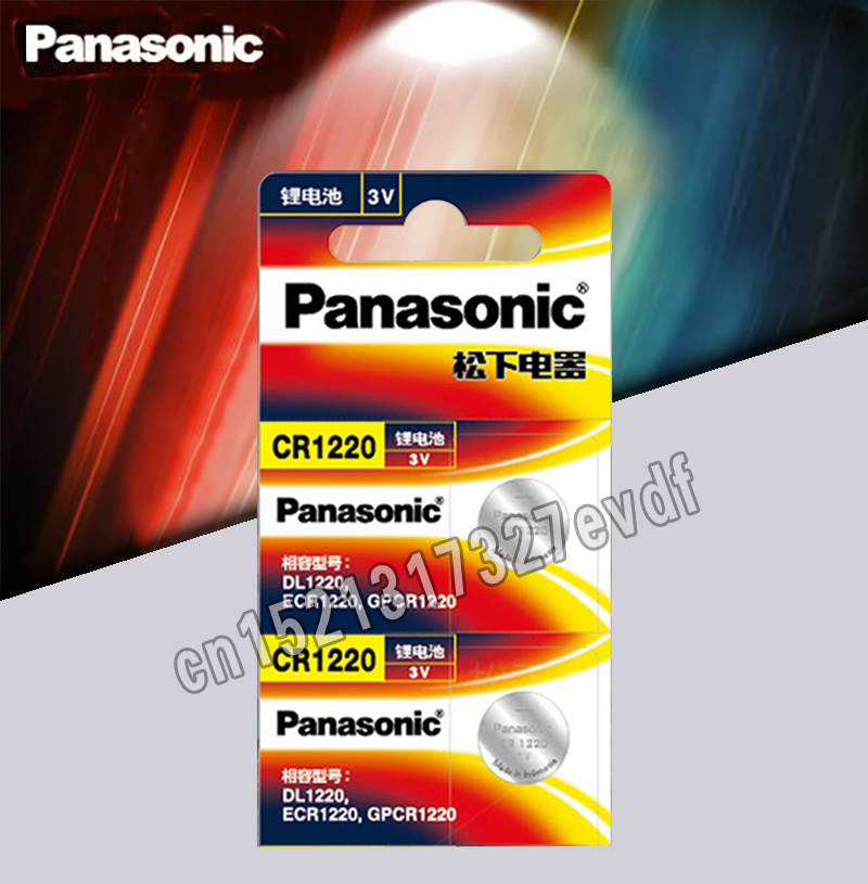 2PCS/LOT Original Panasonic CR1220 Button Cell Batteries CR 1220 3V Lithium Coin Battery BR1220 DL1220 ECR1220 LM1220