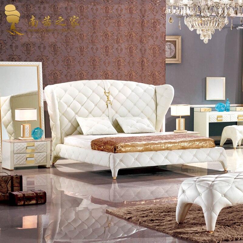 Modern Platform Bedroom Sets Soft Bedroom Lighting Black And Red Bedroom Interior Design Bedroom Furniture Ideas 2016: Modern Leather Bed Soft Bed Intalian High Quality