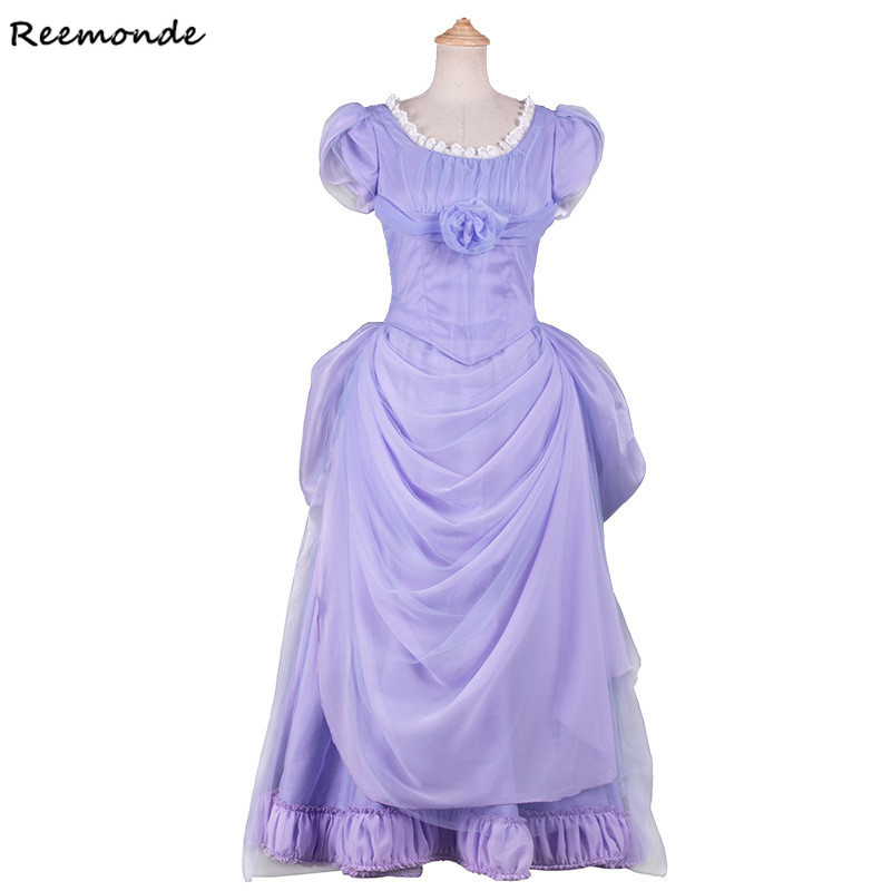 Movie The Nutcracker And The Four Realms Clara Cosplay Costume Purple Dresses Halloween Outfit For Adult Woman Girls Clothing