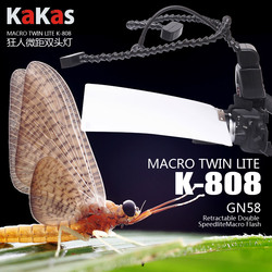 Macro twin lite kuangren kakas k-808  Macro Flash Light Speedlight GN58  For Canon Nikon Pentax DSLR Camera