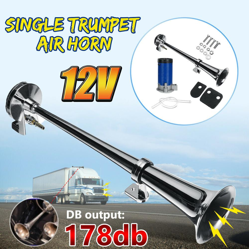 Back To Search Resultsautomobiles & Motorcycles Dashing 12v 178db Single Trumpet Air Horn Chrome Compressor Truck Train Single Universal Bringing More Convenience To The People In Their Daily Life