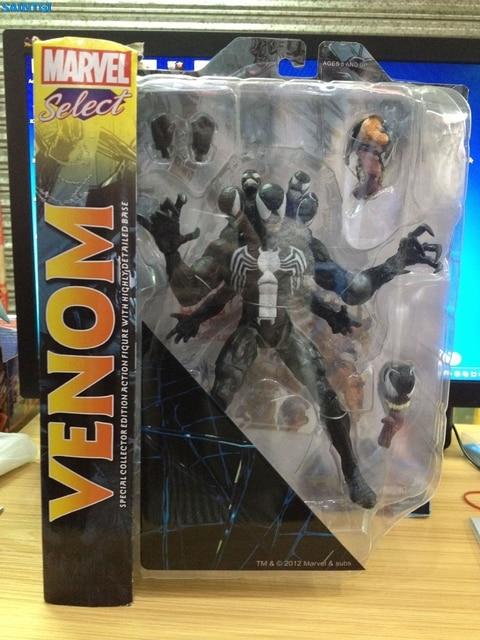 SAINTGI Marvel Select Spider Man Venom PVC 20 CM Animierte Action ...