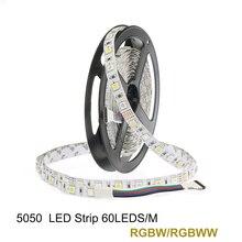 LED Strip SMD 5050 RGBW 12V flexible light RGB+White / Warm White colorful strip lighting,5m 300LEDs 60Leds/m,5m/lot