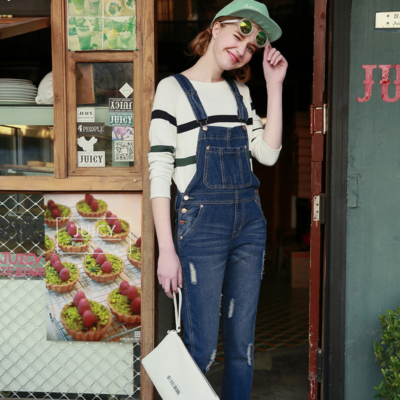 ef3a8d9e1be Womens American Apparel Jeans Ladies Baggy Denim Damen Jeans Full Length  Pinafore Dungaree Overall Jumpsuit Winter Jeans Women-in Jeans from Women s  ...